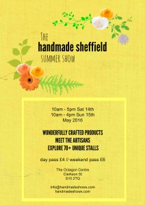 Handmade Sheffield Summer Show Flyer